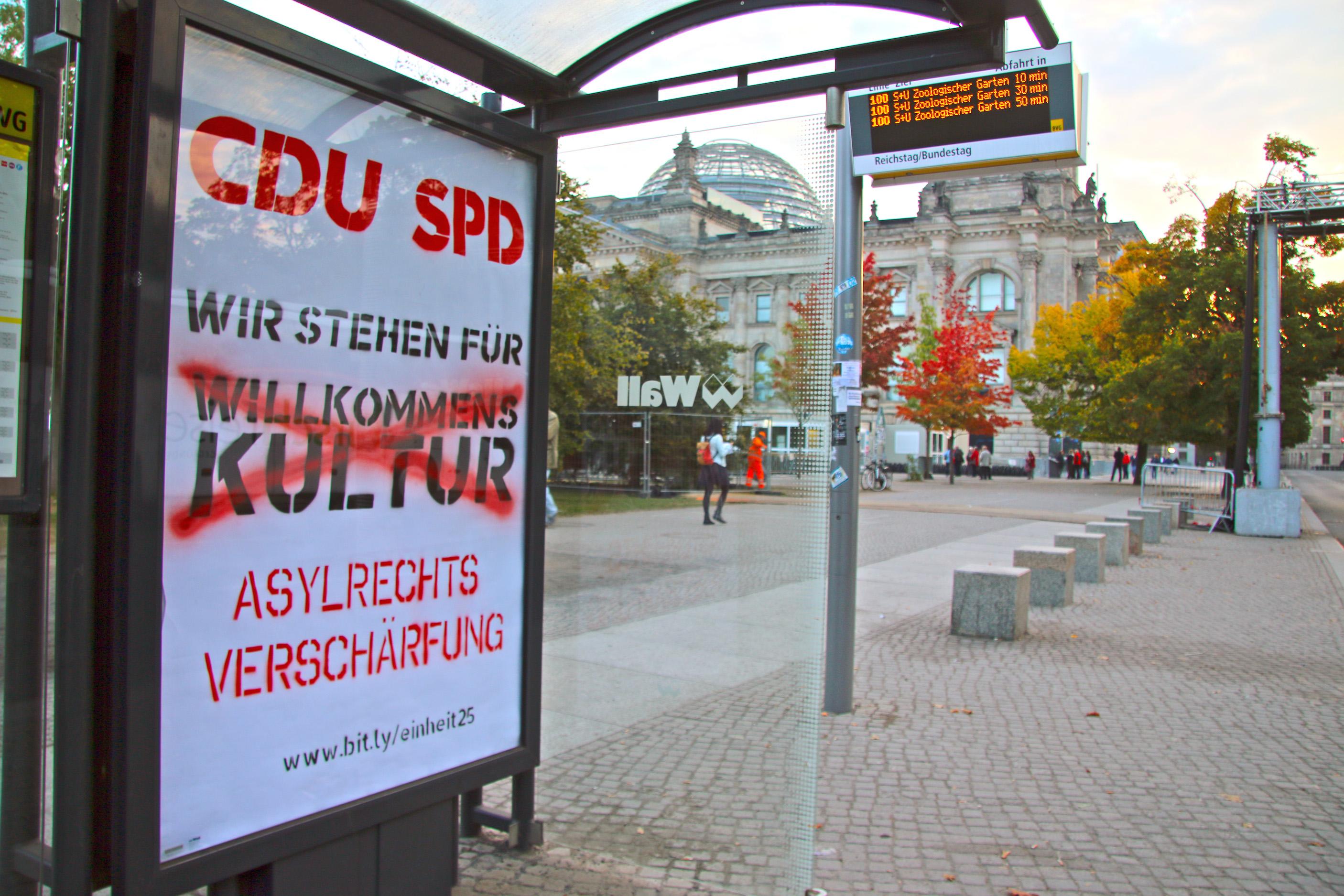 Adbusting am Bundestag, 4.10.2015