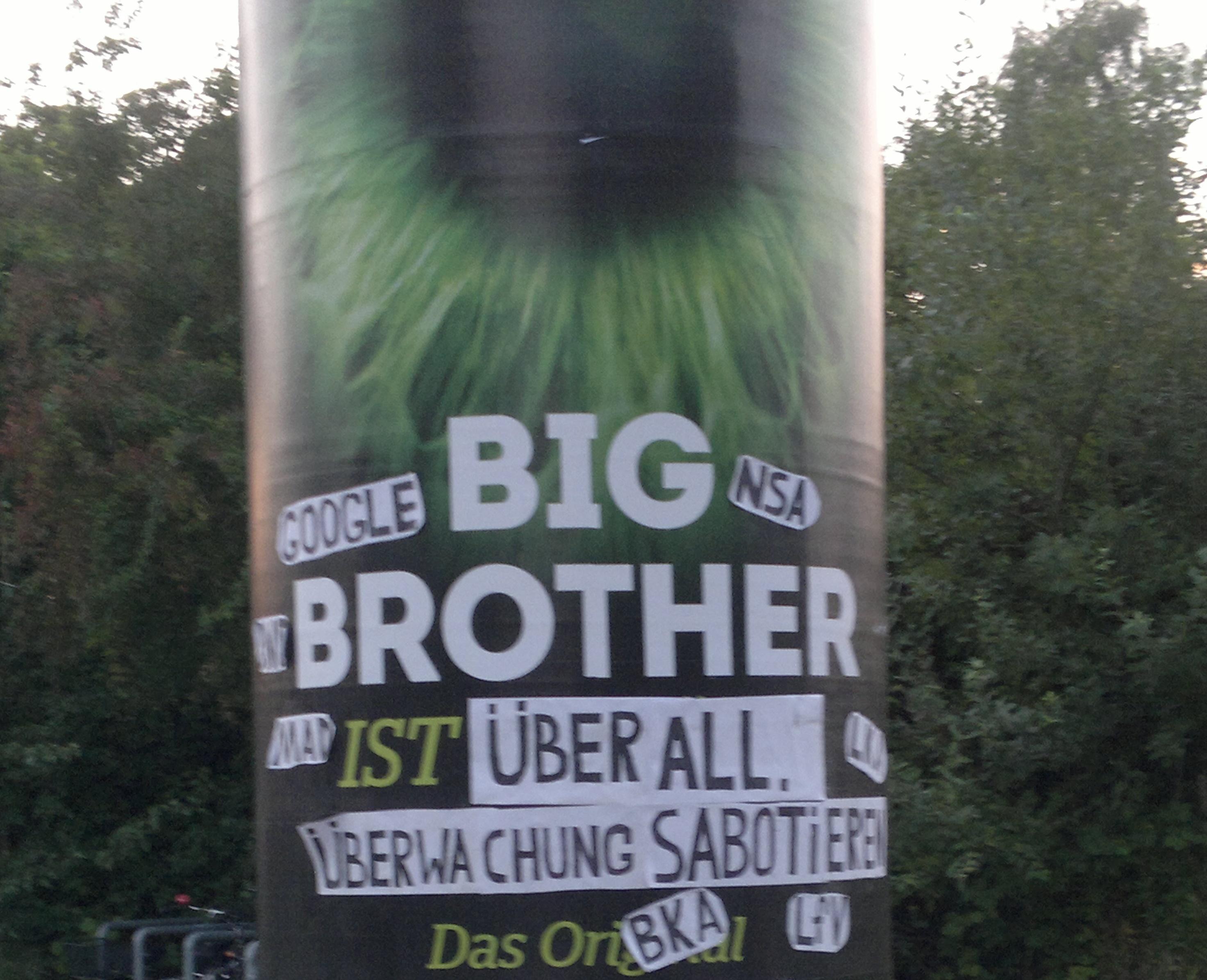 Big-Brother Adbusting zu Google und Überwachung