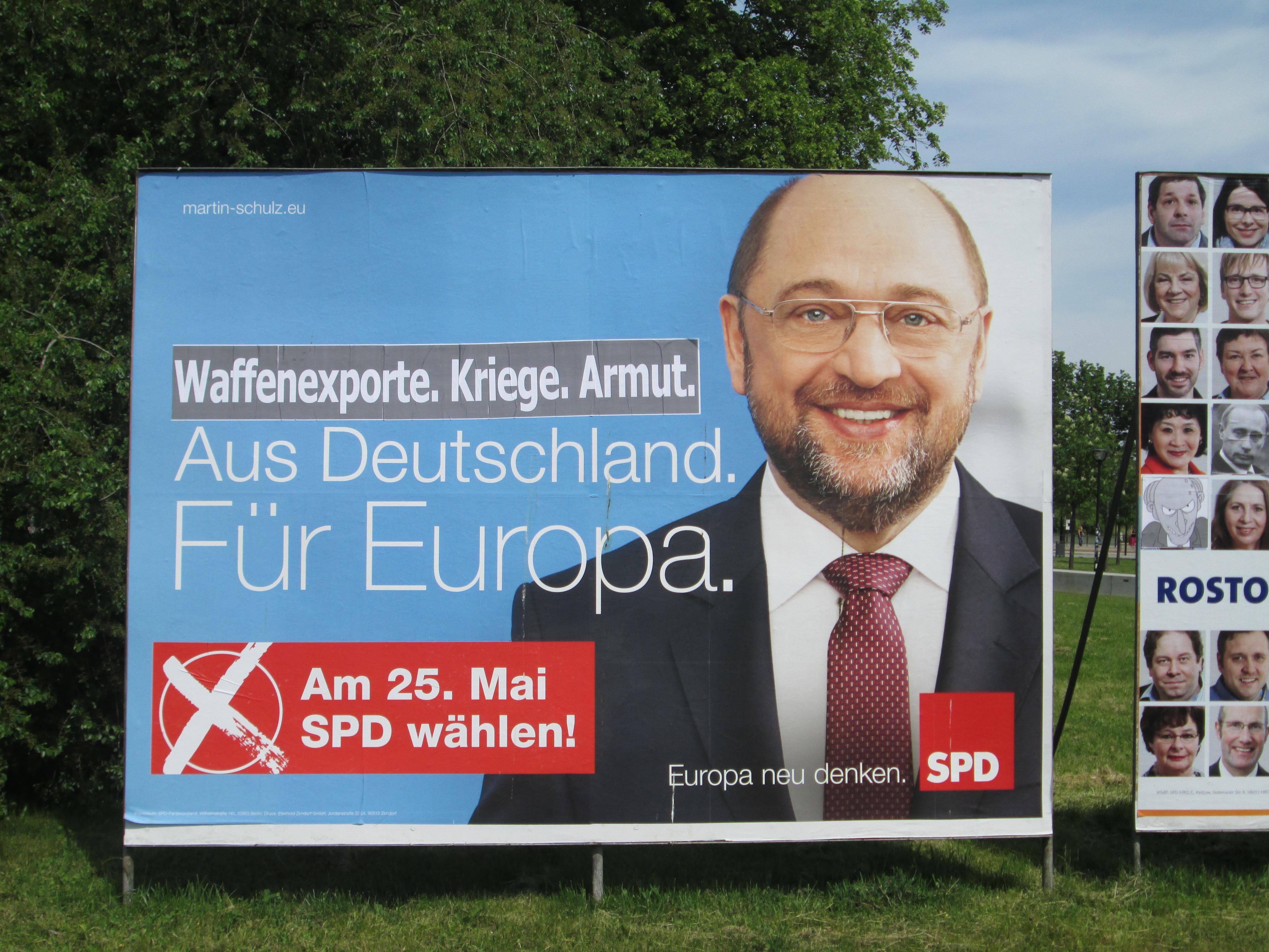 SPD-Adbusting in Rostock zur Europawahl 2014