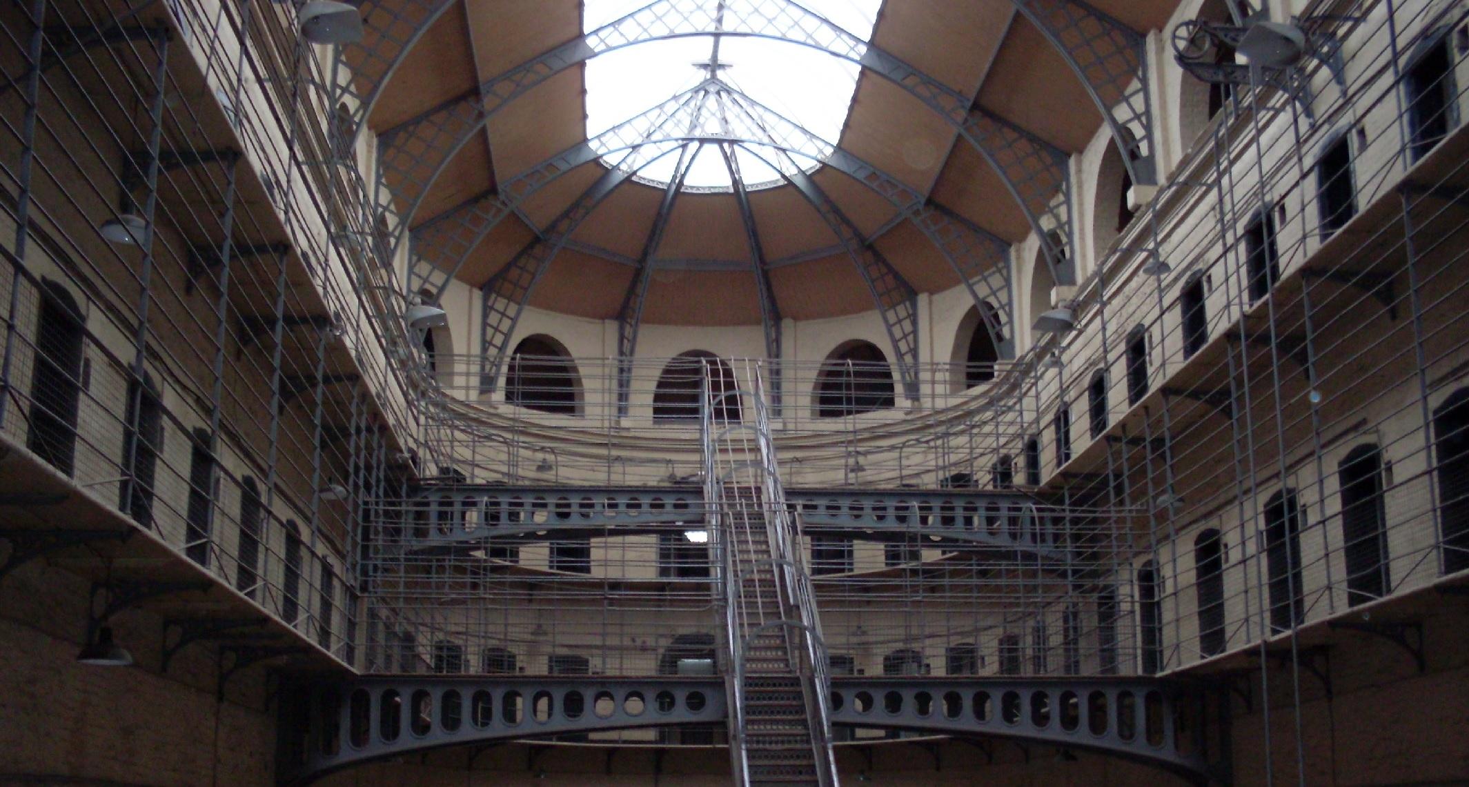 Panoptische Gefängnis Kilmainham Goal von Innen