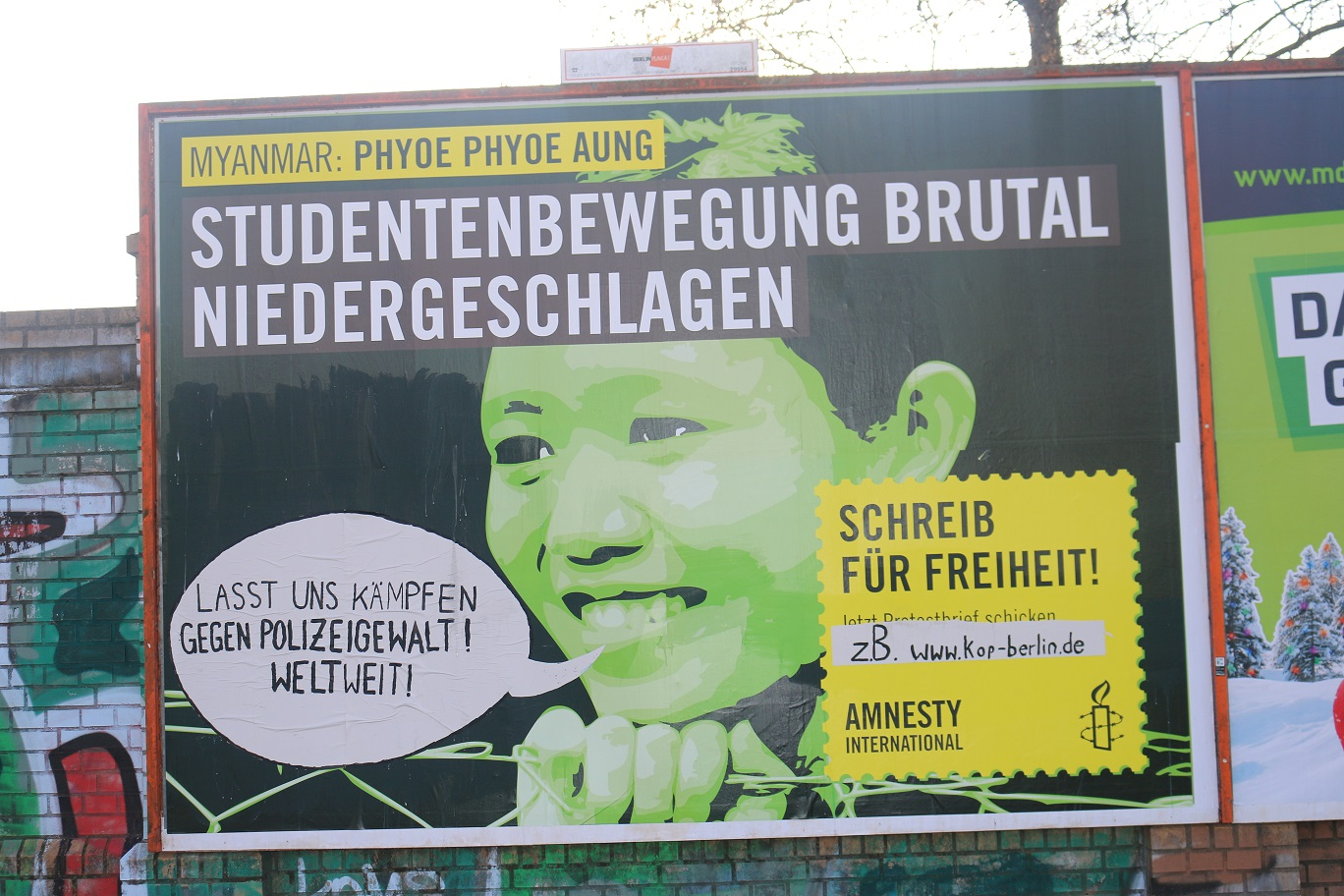 amnesty international Adbusting