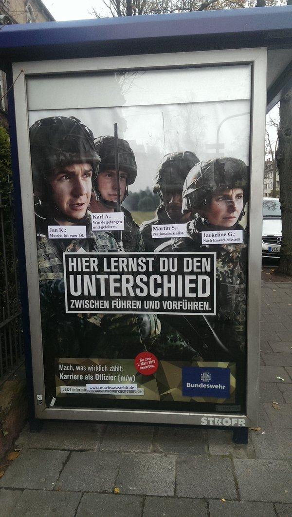 Lebenslauf-Adbusting Bundeswehr