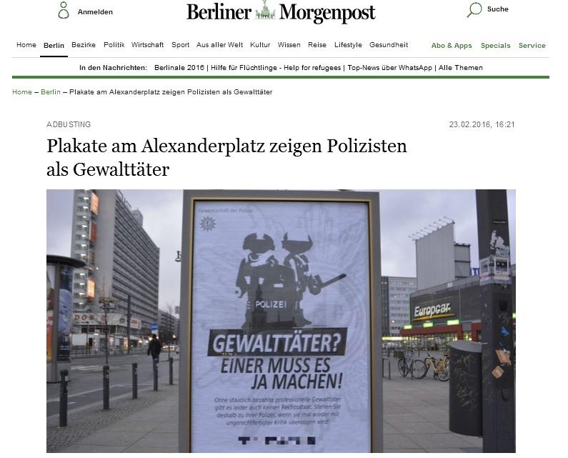 Berliner Morgenpost, 23.2.2016
