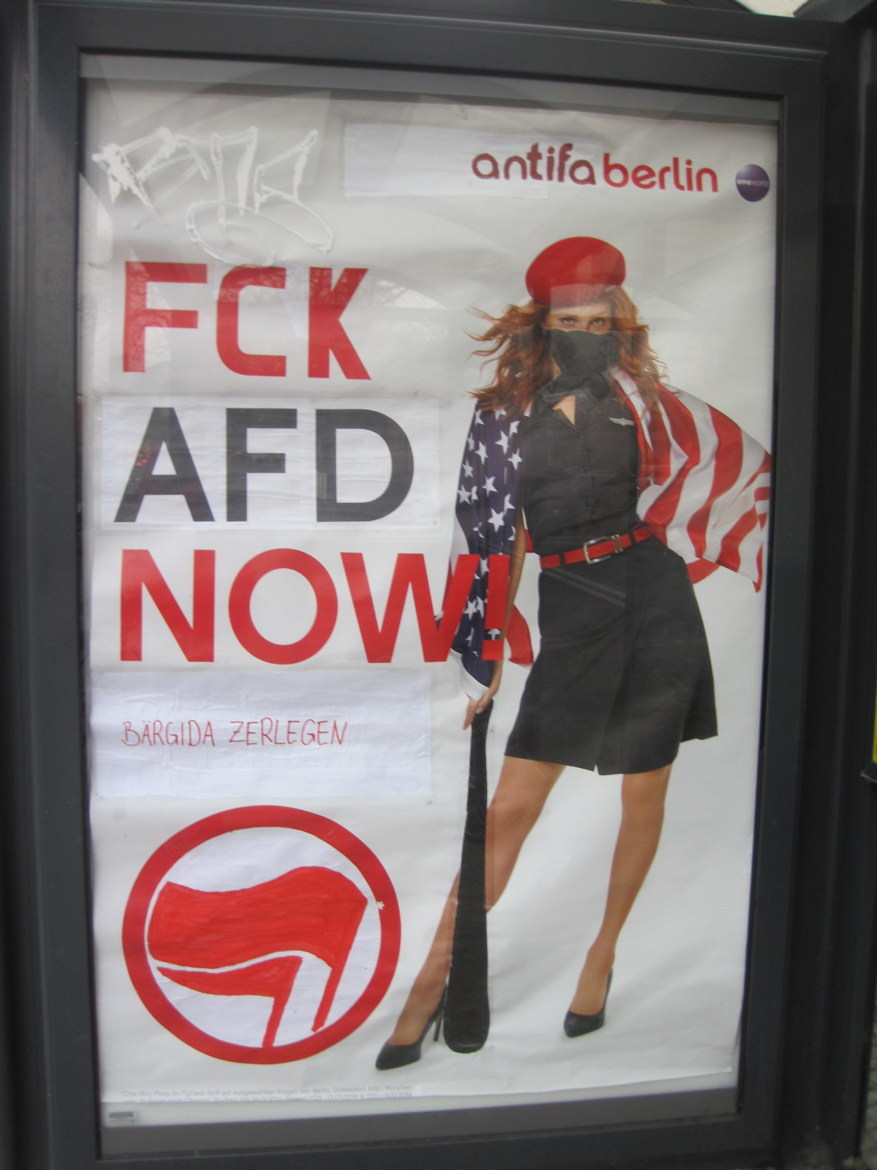 Adbusting Antifa Berlin statt Air Berlin