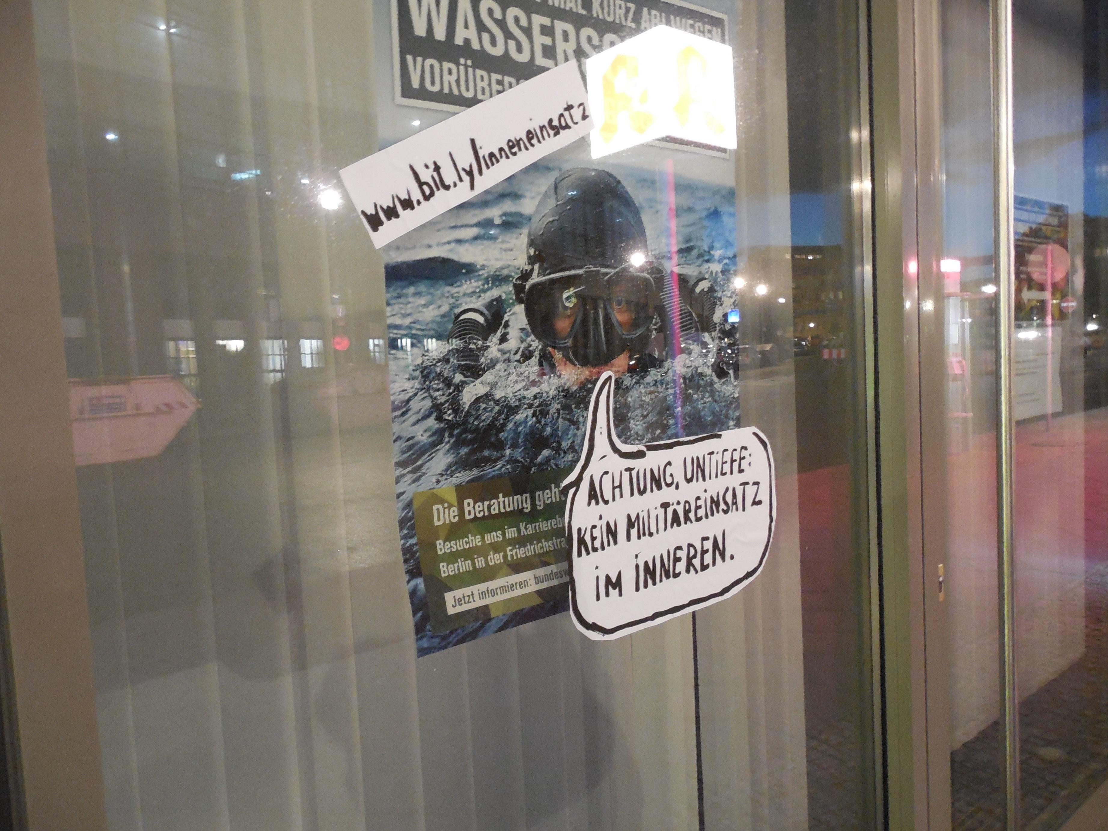 Achtung, Untiefe: Kein Militäreinsatz im Inneren.