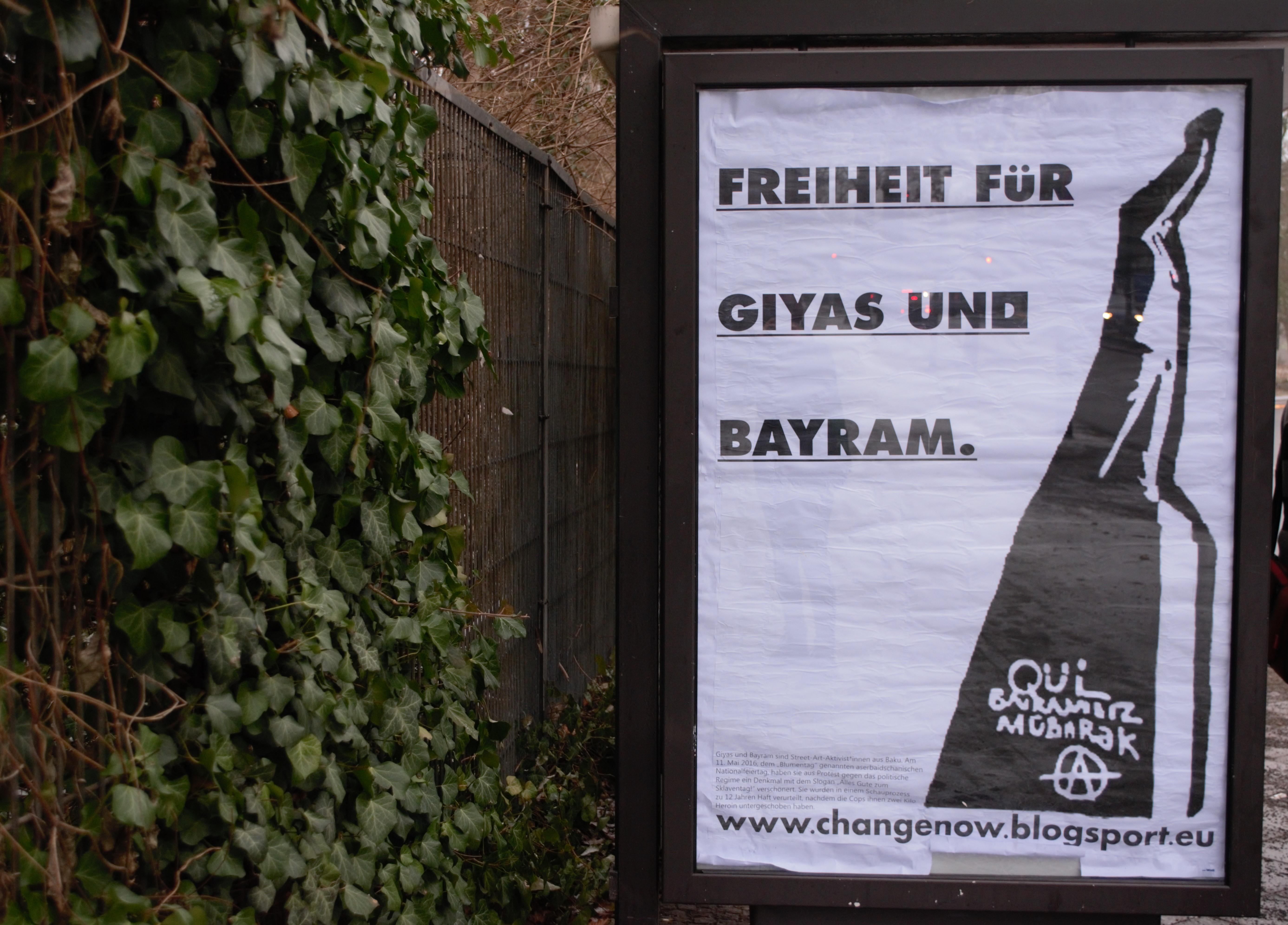 Berlin: Solidarische Adbusting-Grüße nach Baku « maqui.blogsport.eu