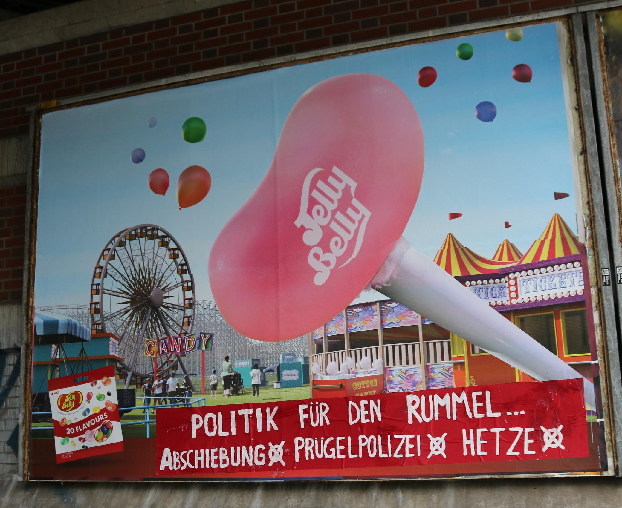 Adbusting Politik für den Rummel